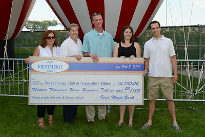 Ribfest - 2014 - Naperville, Illinois - Sponsored by the Exchange Club of Naperville - Check Presentation - First Merit