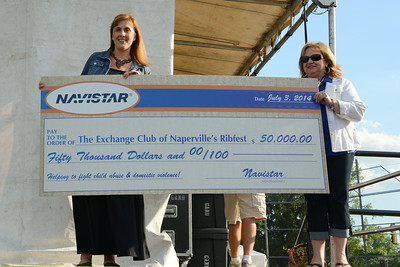 Ribfest - 2014 - Naperville, Illinois - Sponsored by the Exchange Club of Naperville - Check Presentation - Navistar