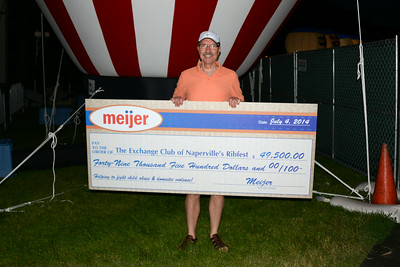 Ribfest - 2014 - Naperville, Illinois - Sponsored by the Exchange Club of Naperville - Check Presentation - Meijer