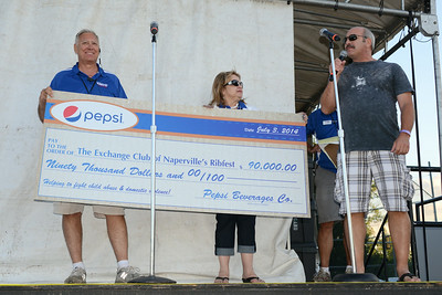 Ribfest - 2014 - Naperville, Illinois - Sponsored by the Exchange Club of Naperville - Check Presentation - Pepsi