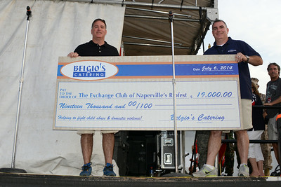 Ribfest - 2014 - Naperville, Illinois - Sponsored by the Exchange Club of Naperville - Check Presentation - Belgio's Catering