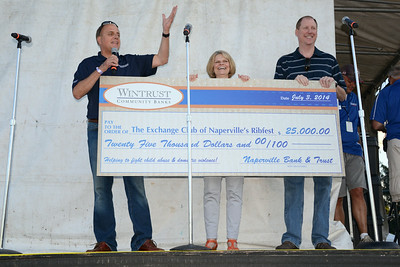 Ribfest - 2014 - Naperville, Illinois - Sponsored by the Exchange Club of Naperville - Check Presentation - Wintrust