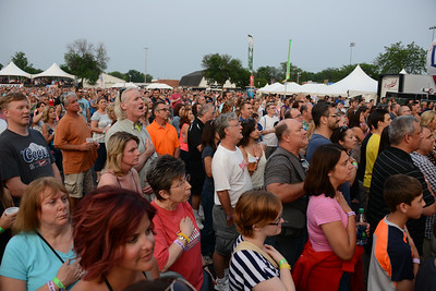 Ribfest 2015 - Naperville, Illinois - Sponsored by the Exchange Club of Naperville - People Enjoying  Ribfest