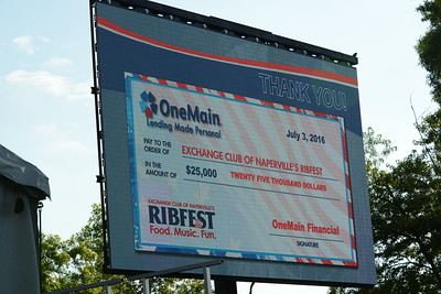 Ribfest 2016 - Naperville, Illinois - Check Presentation - OneMain Financial
