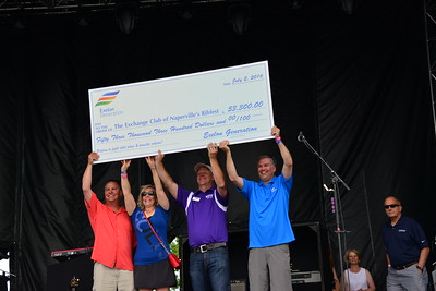 Ribfest 2016 - Naperville, Illinois - Check Presentation - Exelon