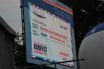 Ribfest 2016 - Naperville, Illinois - Check Presentation - Chrysler