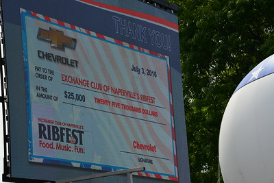 Ribfest 2016 - Naperville, Illinois - Check Presentation - Chevrolet