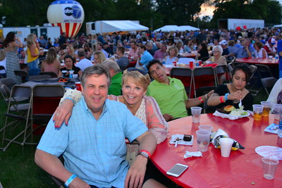 Ribfest 2017 - Naperville, Illinois - People Enjoying Ribfest