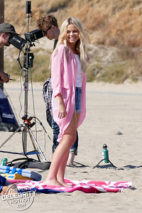EXCLUSIVE: Alli Simpson Fashions Daisy Dukes Filming Music Video on Santa Monica Beach