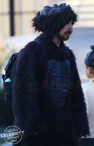 EXCLUSIVE: Christian Bale Dressed Up As A Gorilla For Halloween!