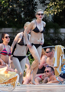 EXCLUSIVE: Kirsten Dunst Shows Off Her Trim Figure In A Black Bikini