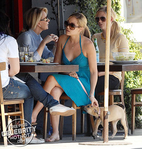 EXC: Lauren Conrad Takes Pet Pooch To Lunch In Short Dress