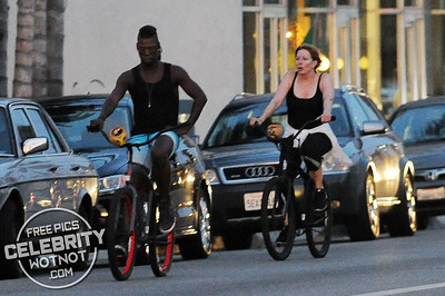 EXC: Linda Kozlowski On Bike Ride With Boyfriend in LA