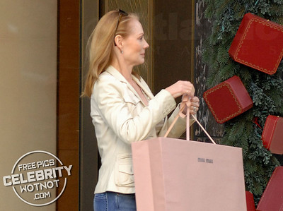 EXC: Marg Helgenberger Christmas Shopping in Beverly Hills, CA