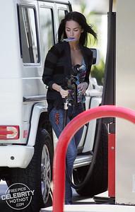 EXC: Just Megan Fox Pumping Gas!