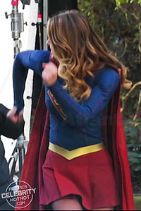 EXC: Supergirl Dancing Between Takes with Mr. Mxyzptlk!