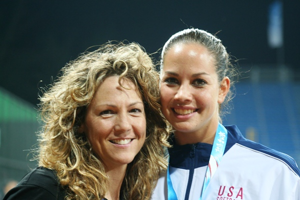 Michele with Cat Osterman