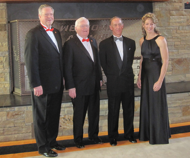 Michele with fellow OSU Alumni Hall of Fame Inductees (left to right) Gene Batchelder, John Clerico, and Lew Meibergen