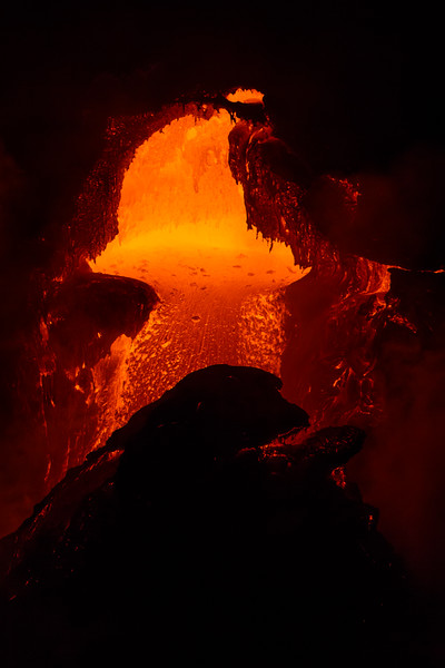 Lava tube into the sea