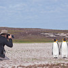 King Penguins and one of our guests at Volunteer Point, Falkland Islands / Islas Malvinas