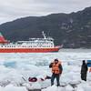 Landing at Amalia Glacier