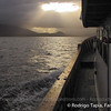 An evening in the Chilean Fjords from the deck of Noctiluca