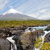 Osorno Volcano and Petrohue Falls in Perez Rosales National Park, Los Lagos, Chile