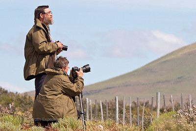 Guests Krystina and Karel photographing the Paine Massif, Torres del Paine National Park, Chile