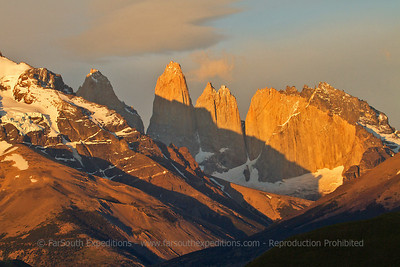 """Sunrise at the """"towers"""", Torres del Paine NP, Chile"""