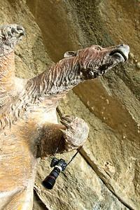 Life-size model of Giant Ground-Sloth or Mylodon (Mylodon darwinii), Mylodon Cave Nature Monument, near Puerto Natales, Chile
