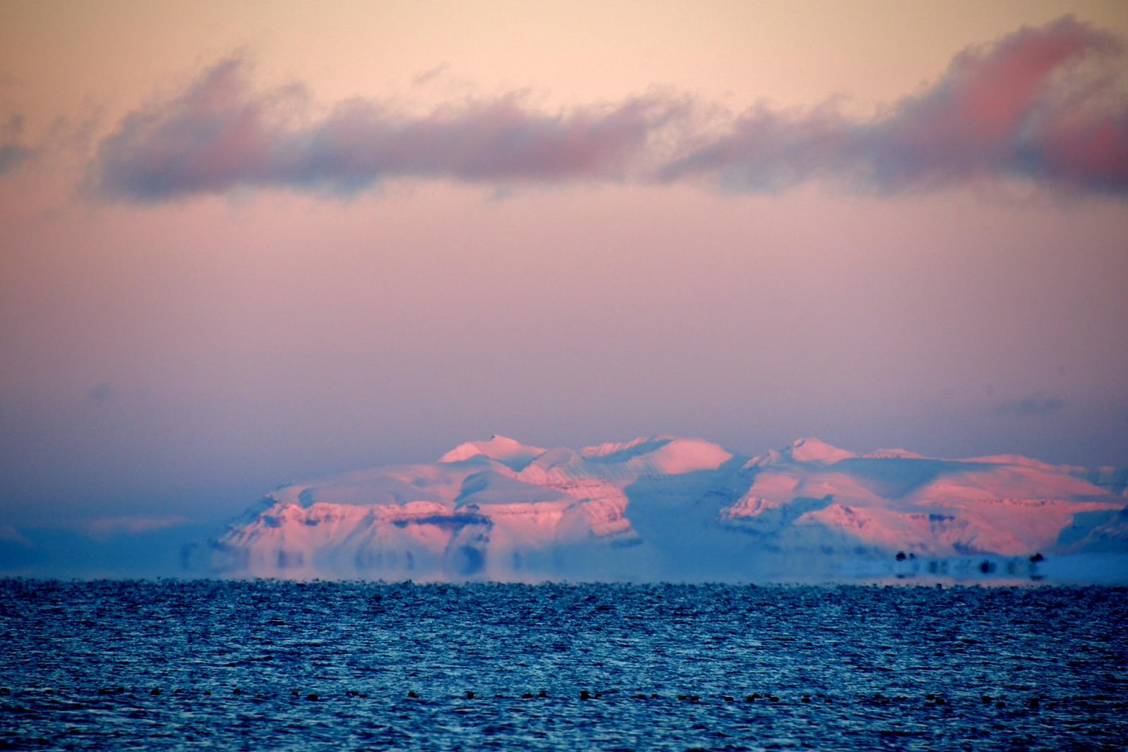Looking across Isfjorden