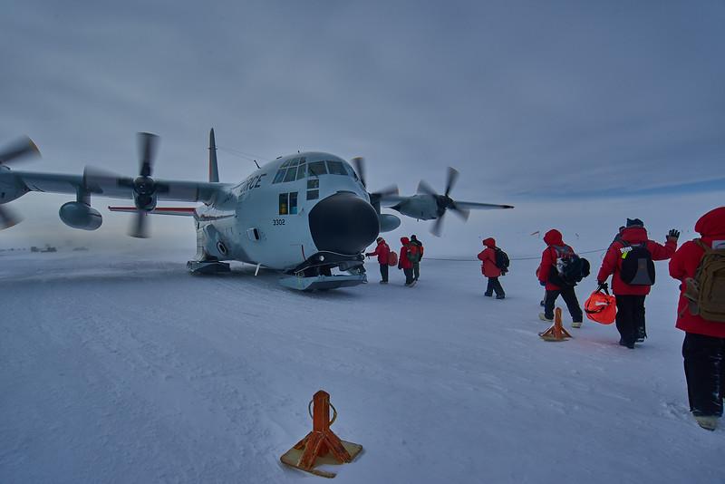 Leaving South Pole