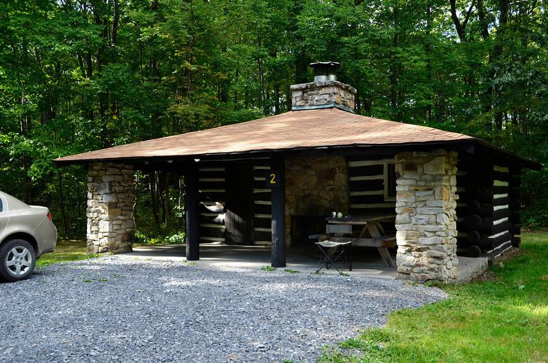 Cabin #2, SB Elliott State Park (8/26)