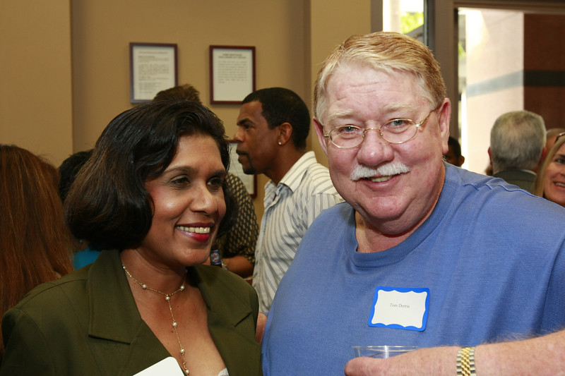 Isha Mohammed of FLCB Fort Lauderdale and Tommy Dorris of Cash Plus