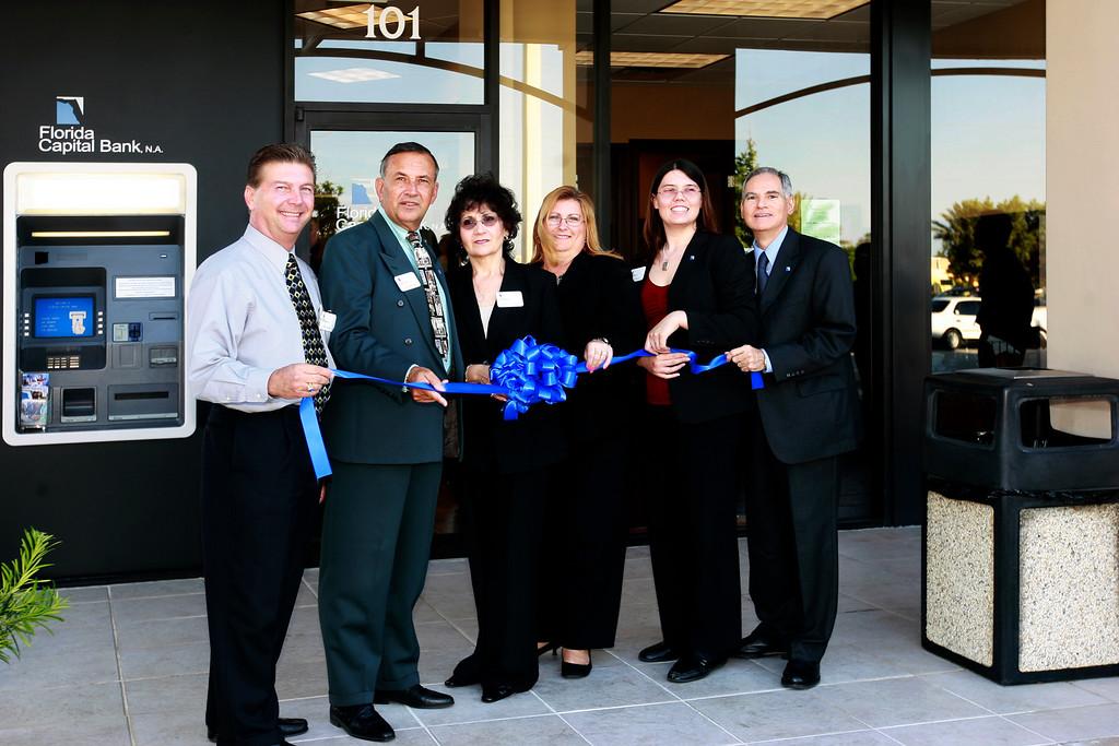 Bank Officials listed left to right. Michael Staley( Market Executive), Kip Gasorek, Lorraine Longobardi (Branch Manager), Pam Brufau, Kristin Barrett, and Sebastian Di Casoli.