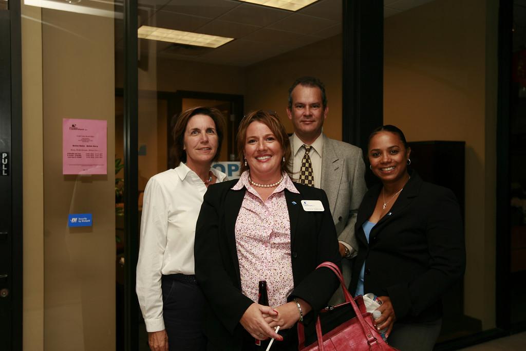 From left to right: Darlene Staley, Francine Fredricks, Len Halley, and Carol Clarke.