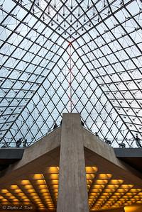 Louvre Museum Pyramid Atrium