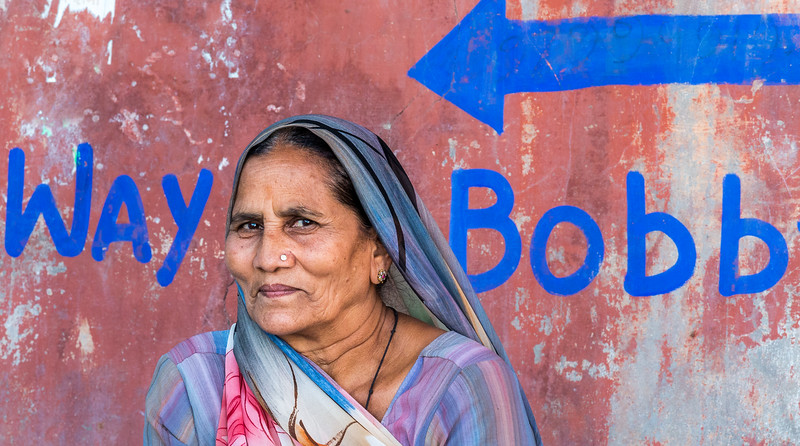 A friendly face in the colorful city of Jodhpur, India.