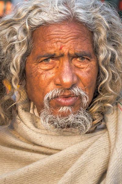One of many sadhus that one encounters in Haridwar, especially during this time of Kumbh Mela.