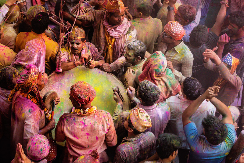 Holi in Mathura: Color and Rhythm