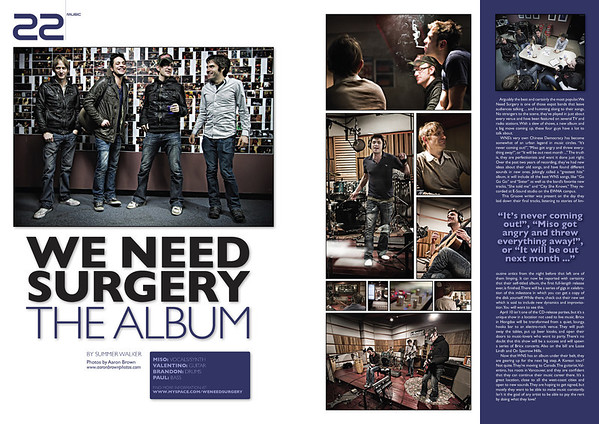 Groove Magazine: April, 2010 - We Need Surgery