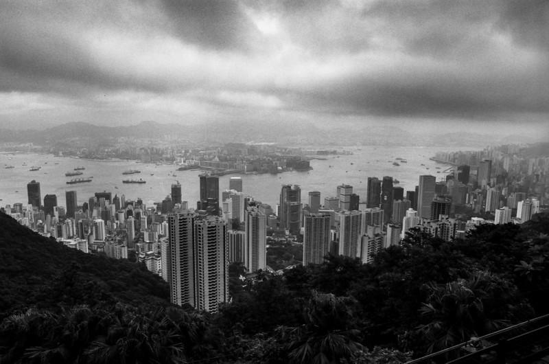 Hong Kong harbour. 1987.
