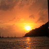 "Portobelo Sunset, Panama, digital image on canvas stretched on frame, 16""x20"""