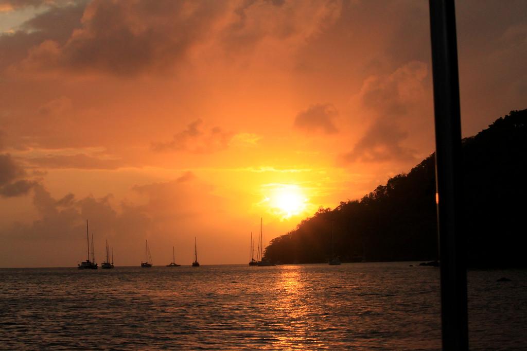 """Portobelo Sunset, Panama, digital image on canvas stretched and mounted on frame, 16""""x20"""" (c) 2013"""