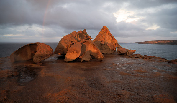 Rainbow at the Remarkables -  Kangaroo Island, South Austsralia