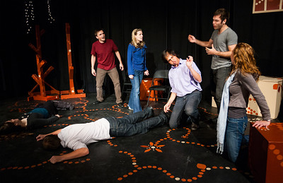 Gnap! Theater Projects' Dusk: Improvised Tween Erotica  at the Salvage Vanguard Theater