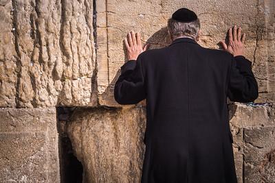 07 Jewish Man Praying at Western Wall [Israel] 2014