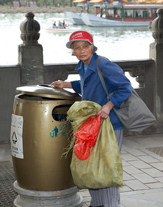 Taking the trash, Emporer's Summer Palace, Beijing (C) 2012