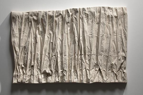 "Ceramic drapery sculpture by contemporary artist Karen LaMonte2009, 36"" x 17"" x 3"""