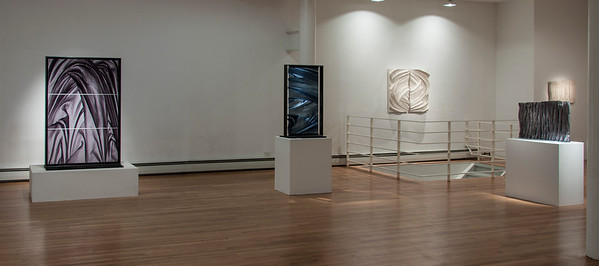 Exhibition of sculptures uses abstract drapery to investigate culture and weather and perception